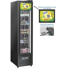 Armoire boissons vitrine réfrigérée 300L avec écran video intégré