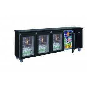 Arrière-bar réfrigéré compact 4 portes vitrées positive 710 L