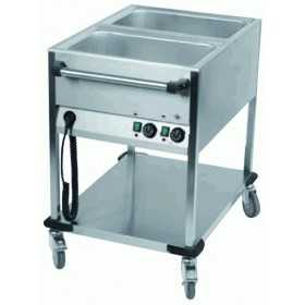 CHARIOT BAIN-MARIE MOBILE 2 CUVES GN 1/1