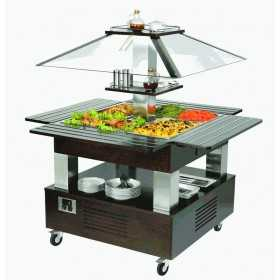 BUFFET ÎLOT CHAUFFANT BAIN-MARIE CENTRAL MOBILE