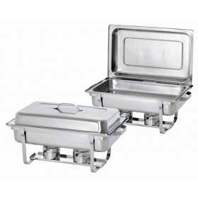 TWIN PACK : 2X CHAFING DISH ROND INOX GN 1 / 1