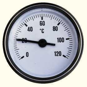 THERMOMÈTRE À CADRAN ENCASTRÉ 0-120°C