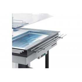 KIT 2 TABLETTES EN TUVE INOX SUPPORT ASSIETTES