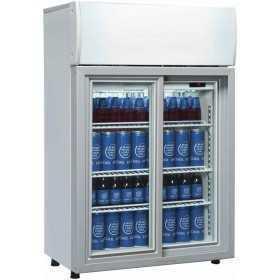 Mini armoire à boissons réfrigérée à porte coulissante