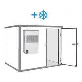 Chambre froide positive de 3 m3, sol standard et monobloc - Monophasée 230V
