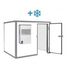 Chambre froide positive de 3 m3, sans sol et avec monobloc