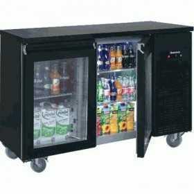 Arrière bar réfrigéré compact 2 portes vitrées positive 340 L