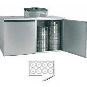 Chambre de refroidissement 8 fûts avec groupe réfrigérant