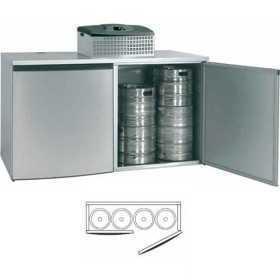 Chambre de refroidissement 4 fûts alignés avec groupe réfrigérant