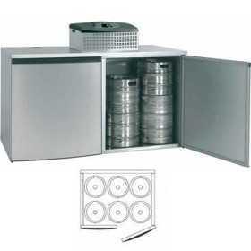 Chambre de refroidissement 6 fûts avec groupe réfrigérant