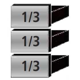 3 tiroirs 1/3 extractibles à la place d'une porte