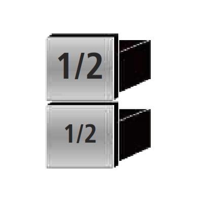 2 tiroirs 1/2 extractibles à la place d'une porte