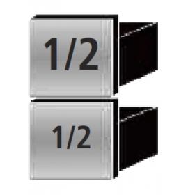 Kit tiroirs 2 x 1/2