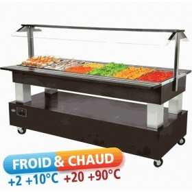 Buffet mixte central 6 bacs