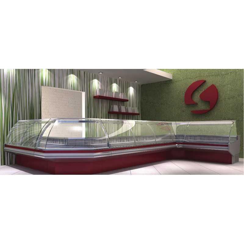 Vitrine réfrigérée Isotech Libra 840 Vitrage Bombé et décor standard
