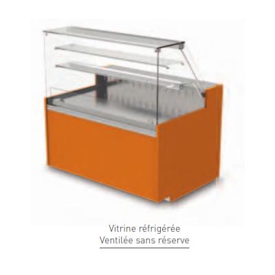 Vitrine Isotech Easy 900 réfrigérée ventilée avec réserve