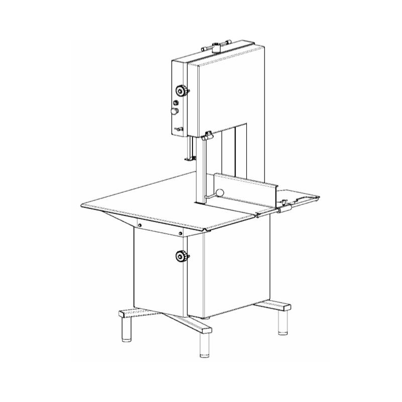 scie à os électrique table rampe Medoc STL-430 r