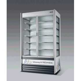 Vitrine réfrigérée libre-service SEDA Alaska VBN avec portes pivotantes