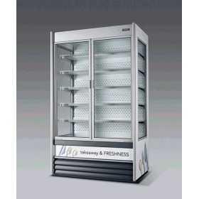 Vitrine réfrigérée libre-service SEDA Alaska VBN Slim avec portes pivotantes