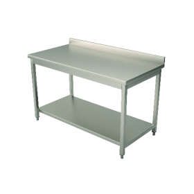 Table inox adossée 600