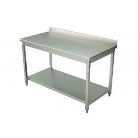 Table inox adossée 700