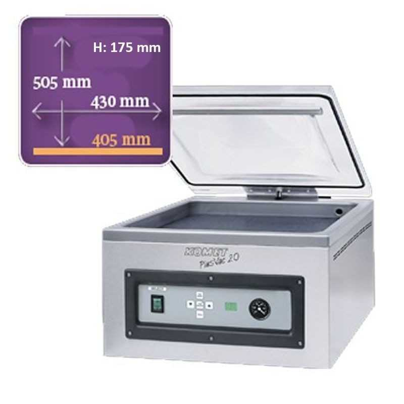 Machine sous vide de table Komet plusvac20