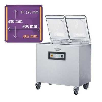 Machine sous vide double cloche Komet plusvac 26