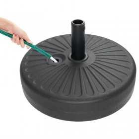Pied de parasol à lester en plastique capacité 20L