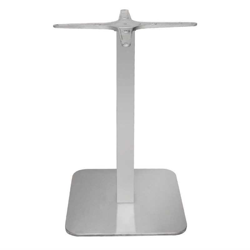 Pied de table carré en acier inoxydable