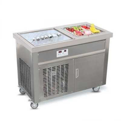 Machine pour Ice cream roll avec plancha glacée + 6 GN 1/9