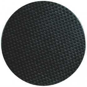 Plateau de table rond rotin anthracite 600mm