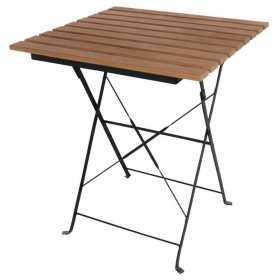 Table bistro carrée en imitation bois 600mm