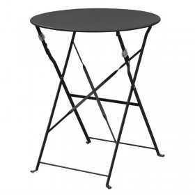 Table de terrasse en acier noire