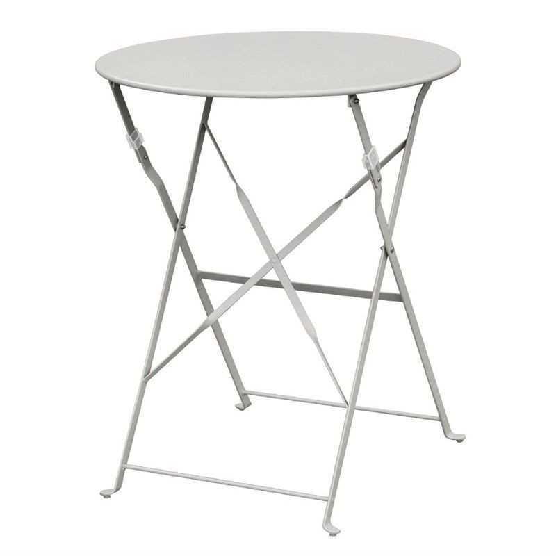 Table de terrasse en acier grise