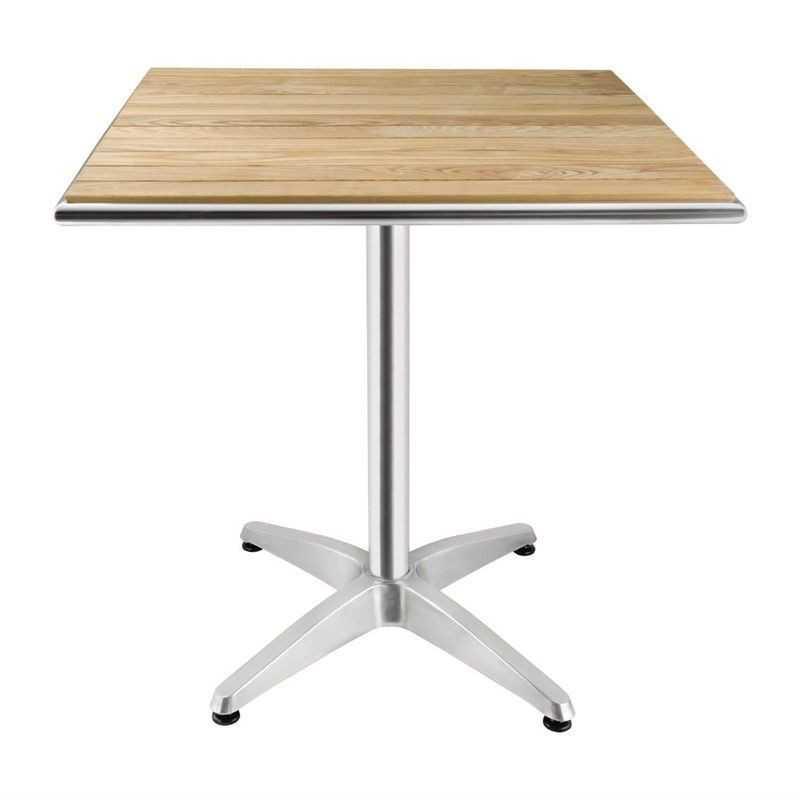 Table carrée en frêne 700mm
