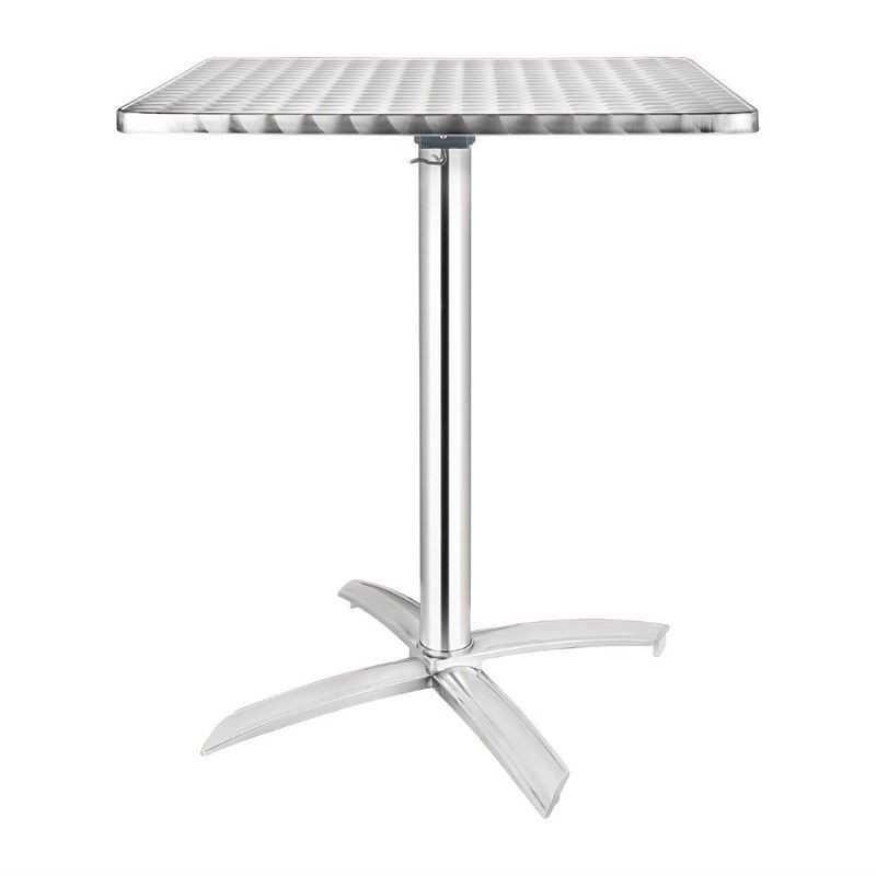 Table carrée à plateau basculant inox 600mm