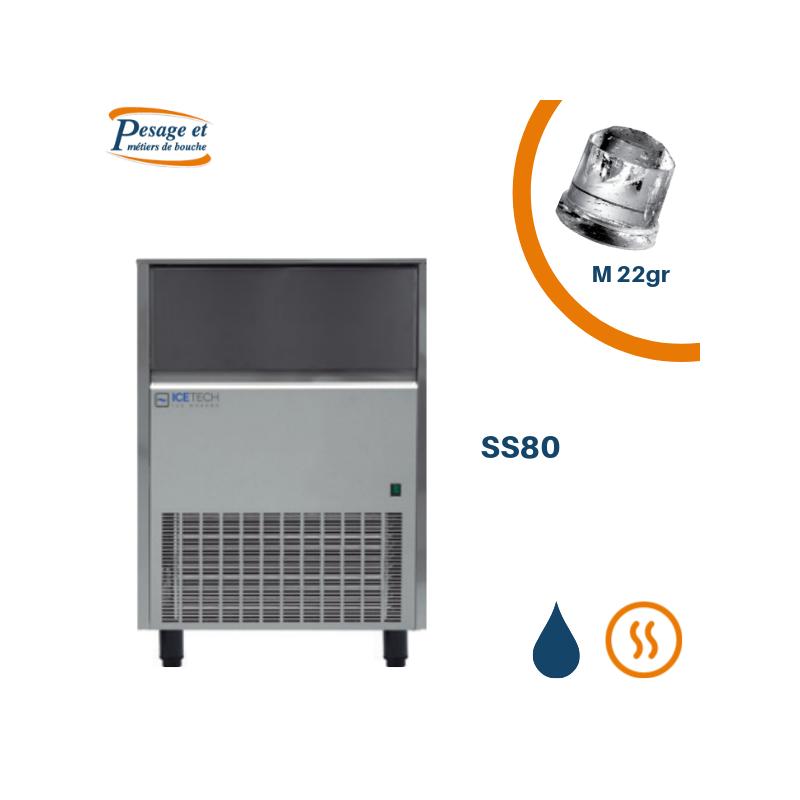 Machine à glaçons pleins professionnelle Icetech SS80