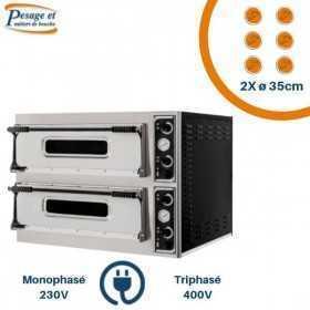 Fours à pizza électrique PRISMAFOOD 2x6 Pizzas Ø35cm