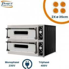Fours à pizza électrique PRISMAFOOD 2x4 Pizzas Ø35cm