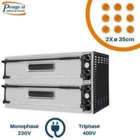 Four à pizza électrique PRISMAFOOD 2x9 Pizzas Ø35cm