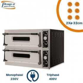 Four à pizza professionnel PRISMAFOOD 2x6 Pizzas Ø32cm