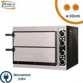 Four à pizza professionnel PRISMAFOOD 2 Pizzas Ø32cm