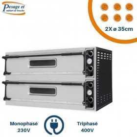 Four à pizza électrique PRISMAFOOD 2x6 Pizzas Ø35cm