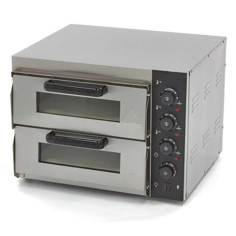 Four à pizza électrique compact double 2 X ø40cm