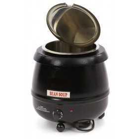 Marmite à soupe électrique noire 10L
