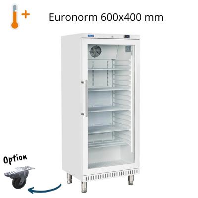 Armoire réfrigérée pâtissière vitrée inox ou blanche 600 X 400 mm