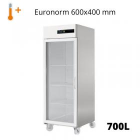 Armoire réfrigérée pâtissière positive vitrée 650L 600x400 mm