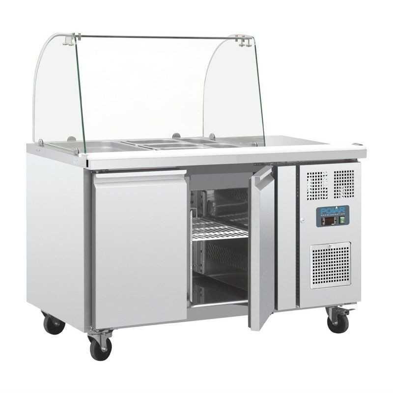 Saladette réfrigérée avec par haleine et espace caisse
