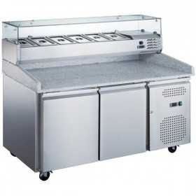 Table pizza réfrigérée + kit réfrigéré 2 portes