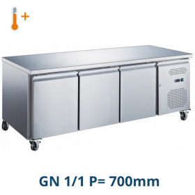 Table desserte positive centrale 3 portes GN 1/1